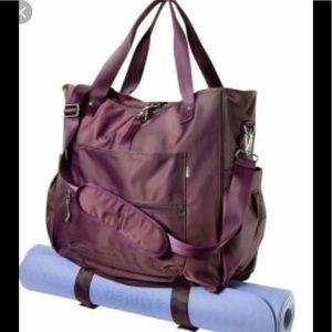 Athleta yoga cargo tote bag! Large purple